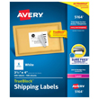 "Avery Shipping Labels W/TrueBlock Technology for Laser Printers (White) (3 1/3"" x 4"") (6 Labels/Sheet) (100 Sheets/Box)"
