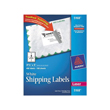 "Avery Shipping Labels W/TrueBlock Technology for Laser Printers (White) (3 1/2"" x 5"") (4 Labels/Sheet) (100 Sheets/Box)"