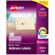"Avery Easy Peel Clear Address Labels for Laser Printers (1"" x 2 5/8"") (30 Labels/Sheet) (50 Sheets/Box)"