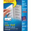 "Avery Easy Peel Address Labels, Inkjet (1"" x 2 5/8"") (White) (30 Labels/Sheet) (25 Sheets/Box)"