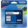 "Brother 12mm (1/2"") Black on White Laminated Tape (8m/26.2') (1/Pkg)"