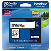 "Brother 18mm (3/4"") Black on White Laminated Tape (8m/26.2') (1/Pkg)"